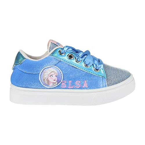 Disney Frozen 2 Mädchen Schuhe Sneaker Sportschuhe! Perfekt für Schule, Draußen oder Legere, Funkeln 3D ELSA Design, Einfacher Schnürverschluss! EU 30