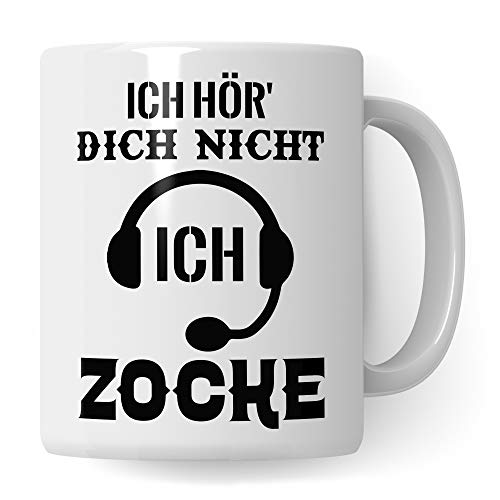 Pagma Druck Gamer Tasse, Zocker Geschenke Spruch: Ich hör Dich Nicht Ich zocke, Kaffeetasse Gaming Zocken Computerspiele Konsole, Controller PC Computerspielen Becher, Computer Gaming Tasse lustig