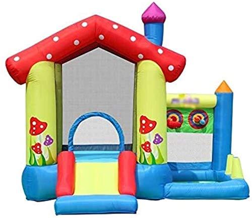 Vivid Castillo Inflable Interior y al Aire Libre Trampoline Niños Slide Deslizamiento Kindergarten Air Cojín Cama Naughty Castle Trampoline