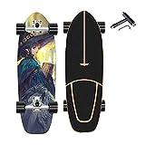 VOMI CX4 Truck Skateboard Surfskate Carving Skateboards Cruiser con T-Tool, Madera de Arce Patineta con Rodamiento ABEC-11, Carver Land Surfboard, para Adolescente Adultos Infantil Principiante,E