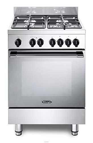 Cucina a gas con forno elettrico, N° 4 Fuochi, 60x60 cm, colore Inox, Linea Gemma GEMMA 66 M2 ED