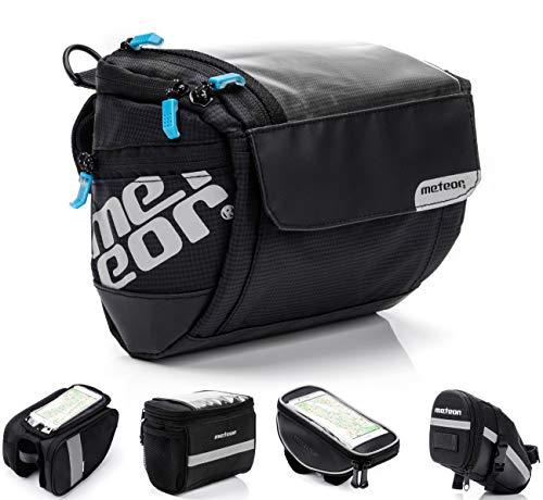 Bolsa Bicicleta Manillar Impermeable Bolsa Móvil de Bici Montaña MTB Carretera BMX con Pantalla Táctil Sensible Bolso Ciclismo Cuadro Bolsa de Sillín con Tira Reflectante (Sella)