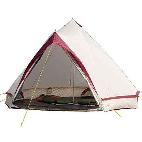 Skandika Waterproof Comanche Unisex Outdoor Frame Tent available in Red - 8 Persons