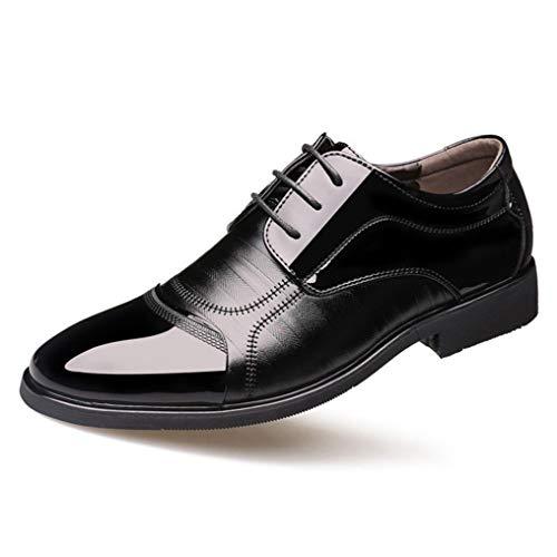 Zapatos Oxfords clásicos con Punta Puntiaguda para Hombres Zapatos Casuales de Negocios...