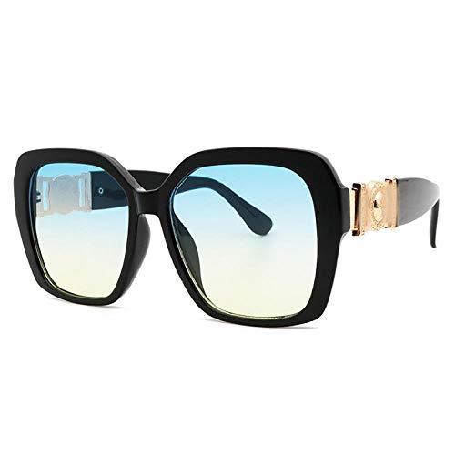 Gafas De Sol Hombre Mujeres Ciclismo Gafas De Sol Cuadradas para Mujer Gafas De Sol para Mujer Gafas De Sol para Hombre Gafas De Sol Transparentes Grandes Black-8133-3
