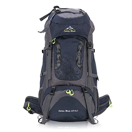 BWBIKE Hiking Backpack Climbing Trekking Rucksack 65L Internal Frame Camping & Hiking Backpacks with Extra 5L Capacity for Outdoor Sports