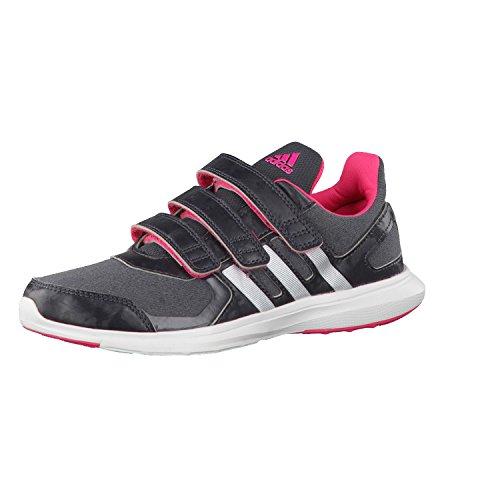 adidas Jungen Sneaker, Grau/Rosa/Weiß, 28 EU