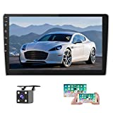 UNITOPSCI Double Din Android Car Stereo with GPS 9'' HD 1080P Touch Screen Car Radio with Bluetooth FM Radio Receiver Head Unit WiFi Mirror link for Android/iOS Phone Dual USB Input with Backup Camera