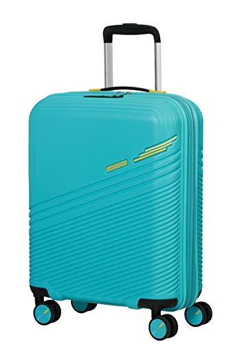 American Tourister Triple Trace Bagagli- Valigia, L (76 cm - 113.5 L), Turchese (Turquoise/Yellow)