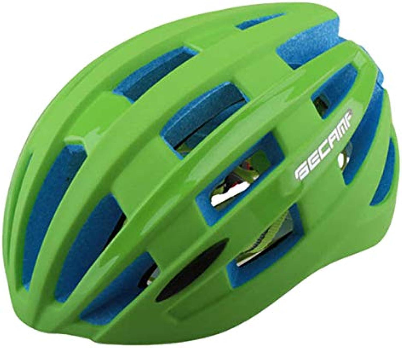 BTAWM Helmets Professioneller Fahrradhelm Outdoor Fahrrad Fahrrad Schutzhelm mit Rücklicht Integral geformter Helm