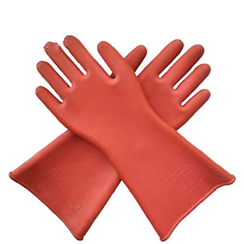 kowaku Guantes Aislados Guantes de Trabajo Doméstico Protección Eléctrica Lavaplatos Rojo -...