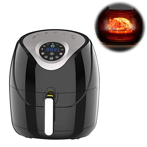 6.1 QT Air Fryer, Oilless Large Capacity Intelligent Electric Fryer, 1500W, LCD Touch with 7 Presets, with Automatic Timer & Temperature Control,220V~230V