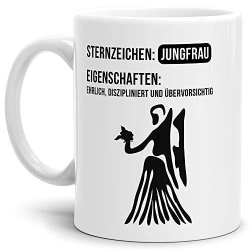 Tasse mit Design ?Sternzeichen Jungfrau - Kaffeetasse/Mug/Cup - Qualität Made in Germany