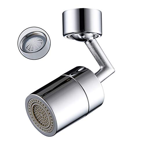 Gexmil Movable Kitchen Sink Aerator 720° Kitchen Tap Head With Filter Multi-function Anti-Splash Faucet Aerators, Faucet connector Parts(22mm/24mm)