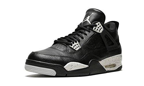 Nike Herren Air Jordan 4 Retro LS Basketballschuhe, Schwarz/Grau (Schwarz/Tech Grau-Schwarz), 44 1/2 EU