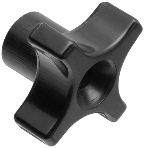 Davies A10-2825-F Thermoplastic Four Arm knob, Flute Rim, Threaded Through Hole, 1/4