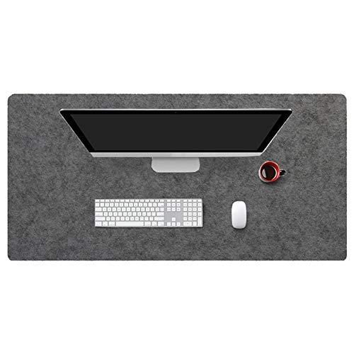 Insun Mousepad aus Filz 2mm Dick Schreibtisch Unterlage Filzunterlage Antirutsch Modern Schreibtisch Matte Rutschfest Dunkelgrau 80x30cm