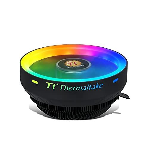 Docooler Configuración de Empuje del Enfriador de Aire de la CPU RGB/Cojinete Hidráulico/Aleta de Aluminio/Funcionamiento Silencioso para Intel/AMD Color RGB Estático