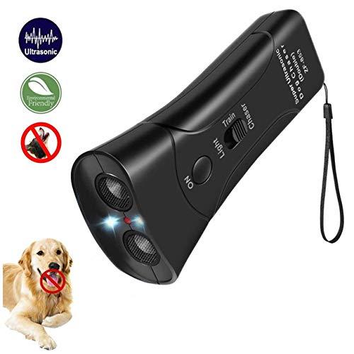 DOPQIEG Ultrasonic Dog Repeller, Electronic Anti Barking Stop Bark Handheld 3 in 1