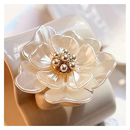 JSJJAHN Brosche Kamelia Blume Brosche Pins Pflanze Broschen Für Frauen Dressing Dekoration Mode Schöne Moderne Mädchen Geschenk
