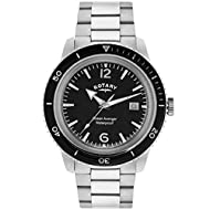 Vintage feel and look Unidirectional bezel and date window Dome shaped glass Re-invented from an archive rotary model which dates back to 1970 Protective scratch-resistant hard mineral crystal lens Durable stainless steel 19 millimetres wide bracelet...