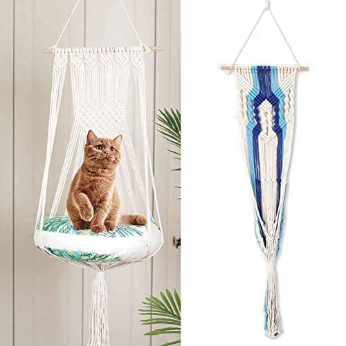 Macrame Cat Hamaca Ventana Cat Swing Colgante de Pared Cat Bed Perch