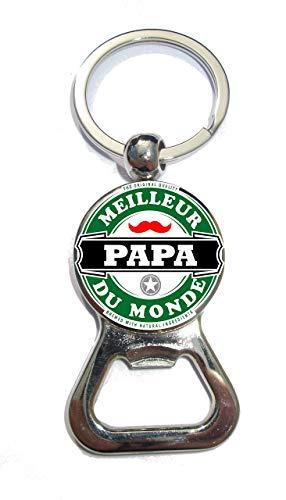 Porte clé décapsuleur «Meilleur Papa du Monde»