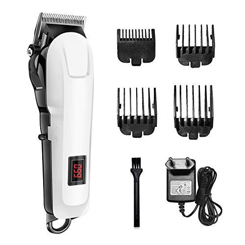 ACTION Haarschneidemaschine Profi Haarschneider mit 4 Aufsatzkämme, Haartrimmer Herren Präzisionstrimmer Bartschneider mit LED Display, Haarrasierer Set für Kinder und Familien