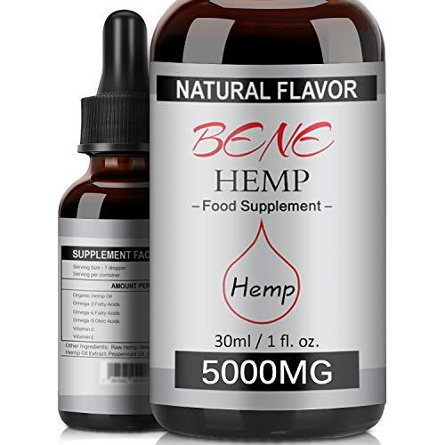 Natural Hemp Oil High Strength Hemp Seed Oil Organic Premium Formula 5000