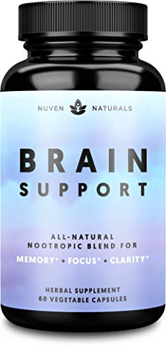 Brain Supplement — Natural Nootropic Brain Booster for Focus, Energy, Memory, Mood, Clarity, and Brain Support with Lions Mane, Ginkgo Biloba & Bacopa Monnieri, Memory Supplement & Focus Supplement