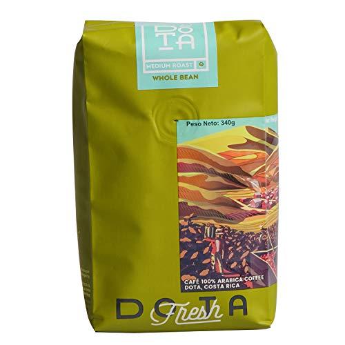 DOTA Costa Rican Whole Bean Tarrazu Coffee, 12oz, Kosher, 100% Arabica Bean (Medium Roast)