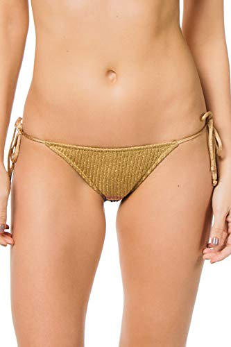 Tooshie Women's Goa Tie Side Brazilian Bikini Bottom Multi 40