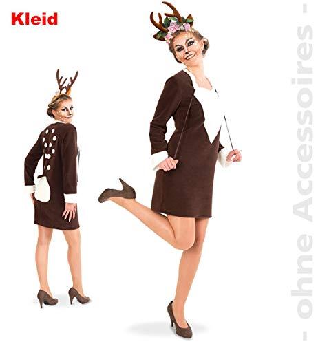 Party-Chic 13563 Damen Kostüm REH - Kleid - Gr. 40