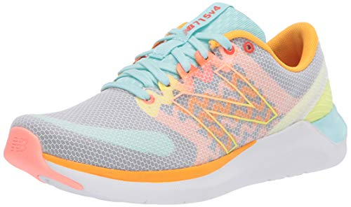 New Balance Women's Cush+ 715 V4 Cross Trainer, White/Plum/Ginger Pink, 9 W US