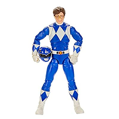 Power Rangers Lightning Collection Mighty Morphin Blue Ranger 6-Inch Premium Collectible Action Figure Toy with Accessories from Hasbro