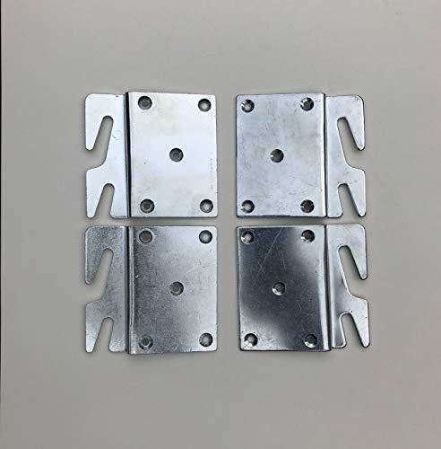 Offset Bed Rail Hook Plates Set