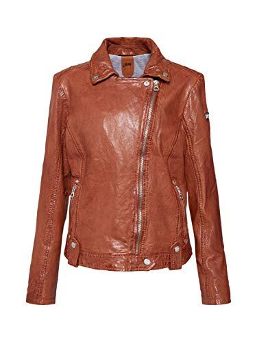 Gipsy GGFavour Lamaxv Women's Leather Jacket Made of Lambskin Leather - Brown - UK 10