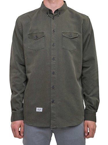 Reell Solid Shirt, Olive L Artikel-Nr.1304-1066