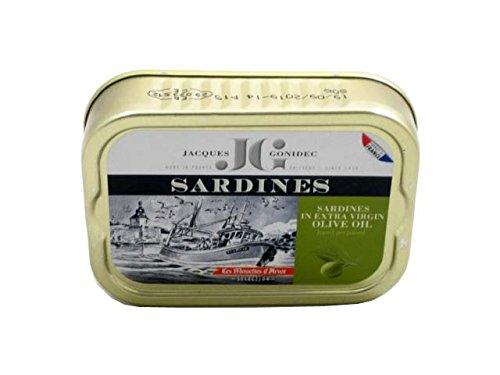 Französische Sardinen in Olivenöl vierge extra, 115g, Jaques Gonidec