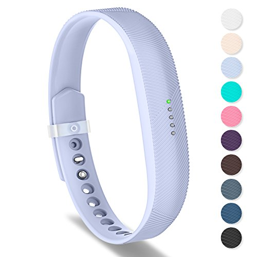 Greeninsync Compatible with Fit bit Bands for Flex 2,Sports Silicone Replacement Wristbands Strap with Metal Clasps and Fasteners for Flex 2 Fitness Smart Watch Small Lavender for Women Girls