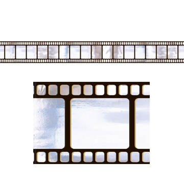PARTY DISCOUNT Wand-Bordüre Filmstreifen, 45cm x 12,2 Meter