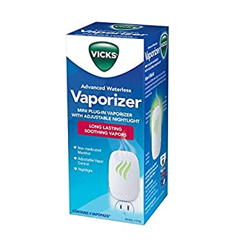 Vicks Advanced Soothing Vapors Mini Waterless Vaporizer With Nightlight V1750 Pack of 2