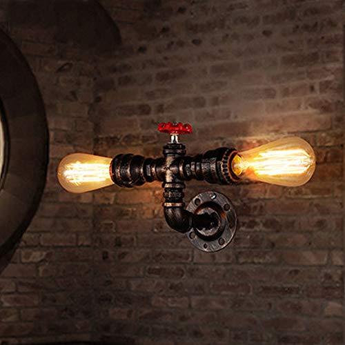 Candtong Industrielle Retro-Schmiedeeisen-Wandlampe, grüne Bronzebarren-Wandlampe, kreative Wandlampe der Café-Bekleidungsgeschäftdekoration, nordische Artwandlampe