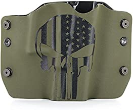 Punisher OD Green - Kydex OWB Holsters for More Than 250 Different Handguns. Left & Right Versions Plus Speed Clips and Paddle Back Available.