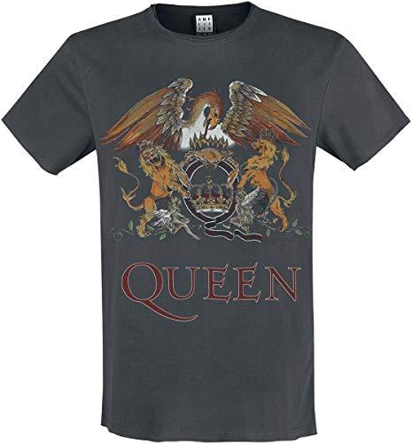 Amplified Shirt Queen Royal Crest, Grau, L