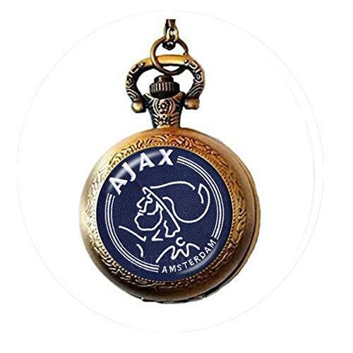bab 25 mm Glas-Cabochon-Halskette, Ajax PSV Football Leagues Logo Soccer Club Anhänger 1 Taschenuhr Halskette