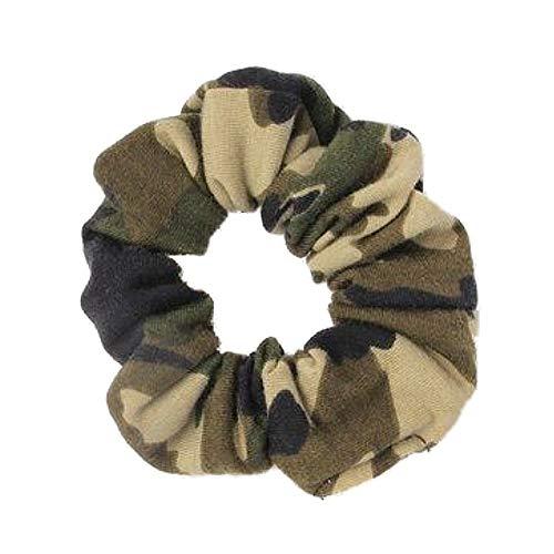 Chouchou en jersey imprimé camouflage