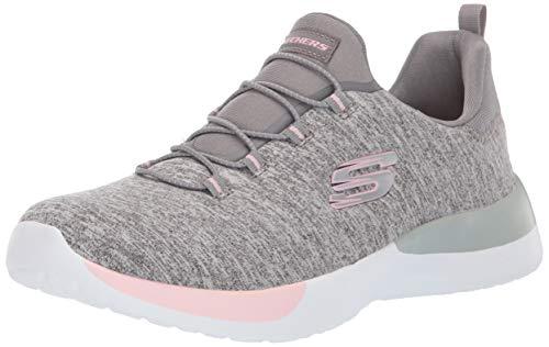 Skechers 12991/GYLP Dynamight-Break-Through Damen Sneaker Slipper grau/rosa, Größe:37, Farbe:Grau
