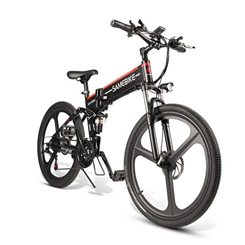 CIOLER Vélo électrique 26 Pouces Repliable pour vélo électrique, Nouveau vélo de Montagne 2019 Pliant avec Batteries Lithium-ION 48V 10.4Ah, Absorption des Chocs Haute résistance et 21 Vitesses