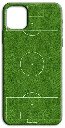 Mixroom - Cover Custodia Back Case in TPU Silicone Morbido per Huawei Y5P Fantasia Campo da Calcio H127